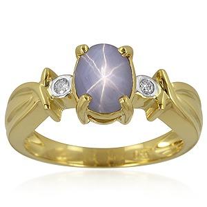 Bague Or et Saphir bleu étoilé - Juwelo, spécialiste du Saphir en ligne.