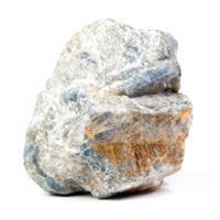 Saphir dans sa matrice de kaolinite.