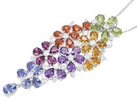 Pendentif serti de pierres fines - Juwelo, votre bijouterie en ligne.