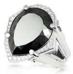 Bague en or et diamant noir de 24 carat - juwelo bijouterie en ligne