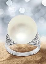 Bague et perle blanche parfaite - Juwelo bijouterie en ligne