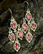 Boucles d'oreilles en or et Saphir Padparadscha Juwelo bijouterie en ligne