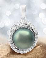 Pendentif et perle noire de Tahiti - Juwelo bijouterie en ligne.