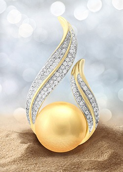 Perle dorée des mers du sud - Juwelo bijouterie en ligne