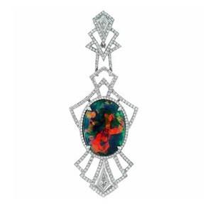 Pendentif et Opale noire de Lightning Bridge - collection Kat Florence - Juwelo