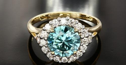 Bague en or et Diamant bleu de 2 carats - Juwelo bijouterie en ligne
