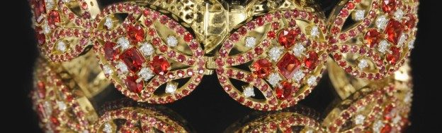 Les célèbres colliers de Rubis d'Henri VIII, roi d'Angleterre.
