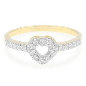 Bague or Diamant forme cœur - Juwelo