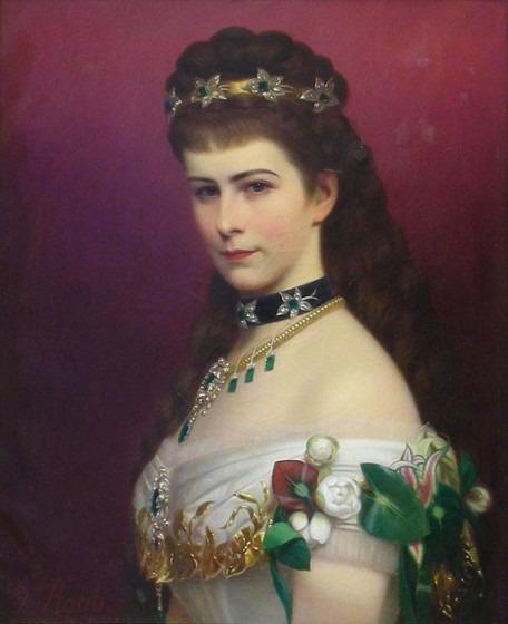 Portrait de l'impératrice d'Autriche réalisé par Georg Martin.
