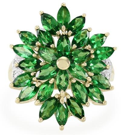 Bague en or et Grenats Tsavorites en vente chez Juwelo, bijouterie en ligne spécialisée en véritables pierres.