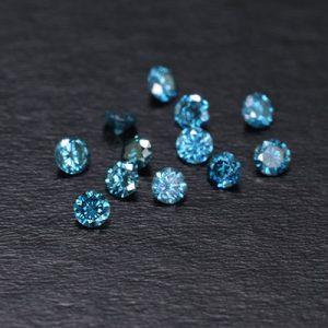 sélection de diamants bleus pour la création de bijoux