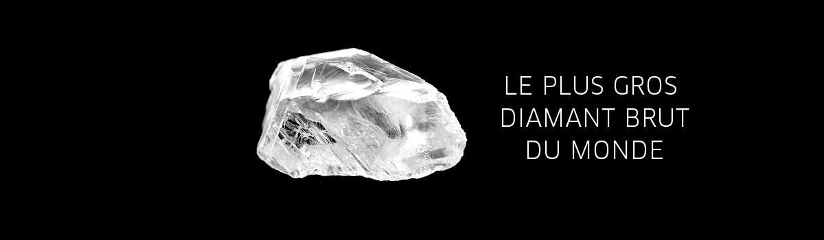 record du plus gros diamant brut du monde monde des pierres